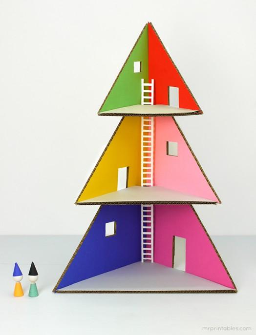 DIY Christmas Tree Doll House | Kidsomania