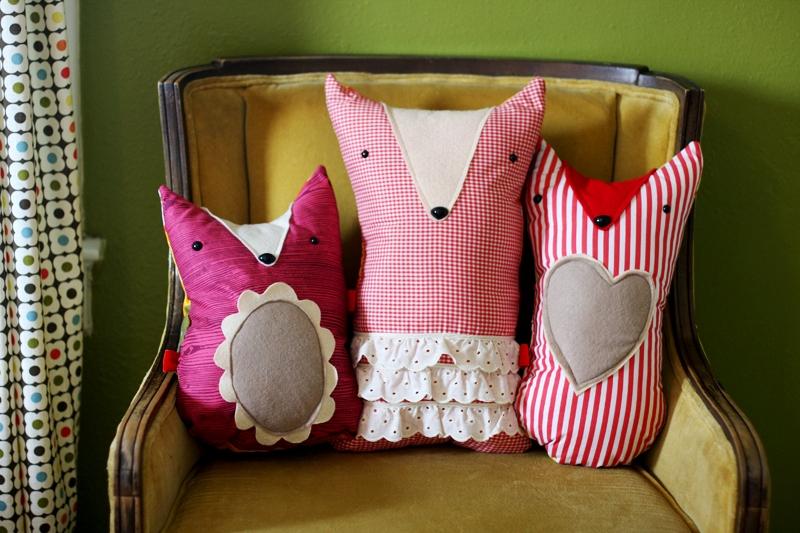 Cute Pillow Diy : DIY Cute Fox Cushion Dolls Kidsomania