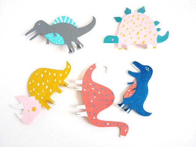 Сделать динозавра из бумаги просто