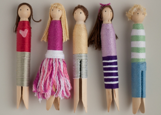 Fancy diy clothespin wrap dolls to make with kids kidsomania for Close pin crafts