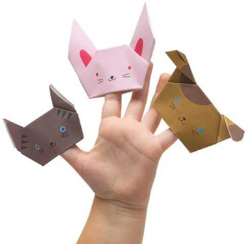 how to make origami yoda finger puppet