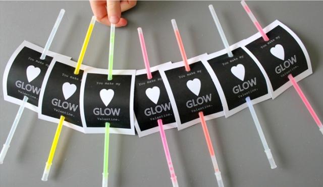 diy glow stick valentines for a kids party kidsomania