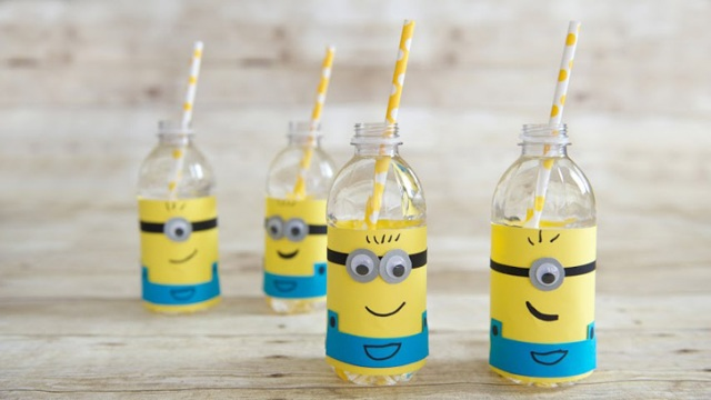 Diy Minion Water Bottle Label For A Kids Party Kidsomania