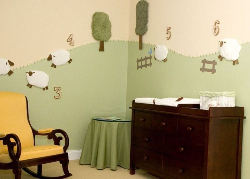 Nice And Funny Diy Sheep To Decorate Nursery Walls