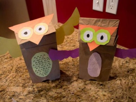 how to make paper bag puppets at home