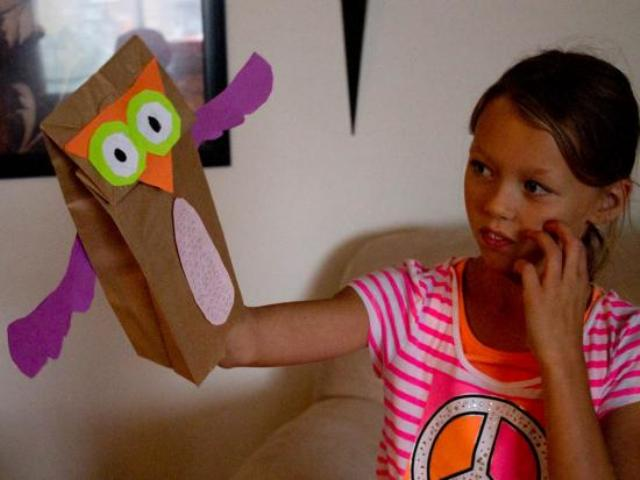 how to make a fox paper bag puppet