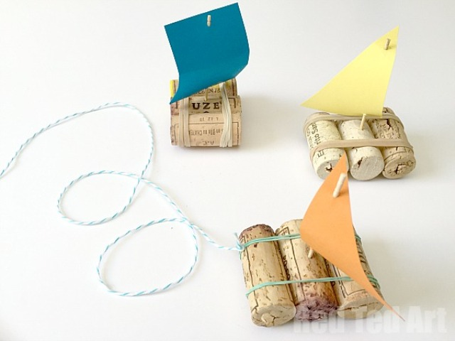 Easy To Make Diy Pirate Cork Boats To Play With Kids Kidsomania