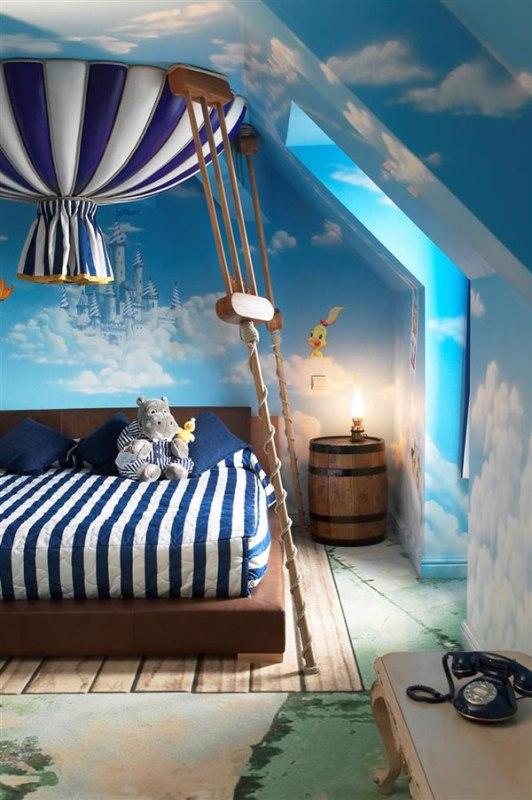 fairy tale blue and white kid s bedroom design kidsomania
