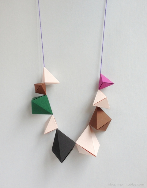 Funny And Easy Diy Origami Necklace For Kids Kidsomania
