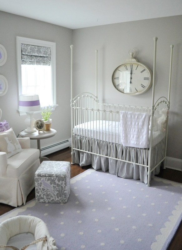 Gentle Lilac Nursery For A Baby