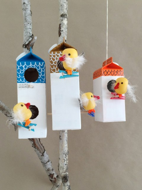 Fun Diy Milk Carton Birdhouse Village Kidsomania