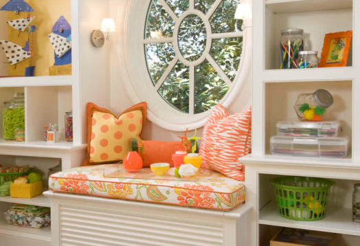 Kids Craft Room Ideas: Amazing Kids Craft And Play Room Design In Bright Colors