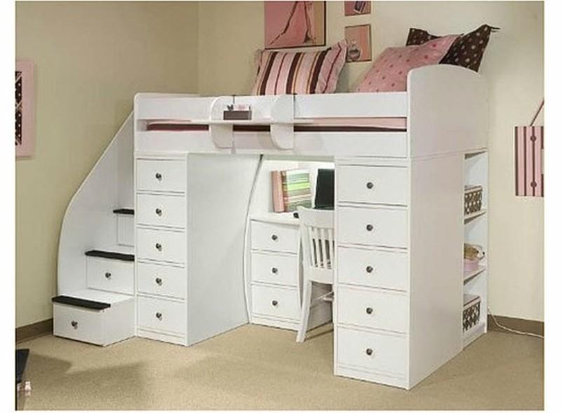Reference Pinterest Children Loft Bed With Desk