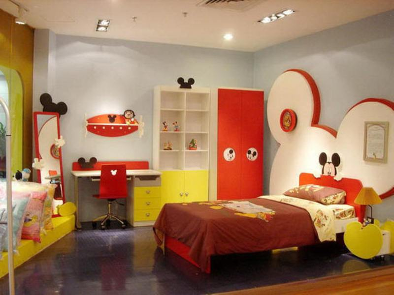 Http Www Kidsomania Com Mickey Mouse Themed Kids Room Designs And Furniture