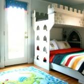 Unique  Modern Boys Bedroom With A Castle Bunk Bed