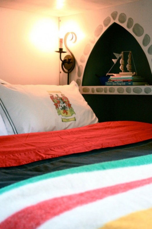 Modern Boys Bedroom With A Castle Bunk Bed Kidsomania