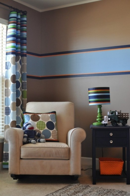 16 Striped Walls Ideas For Kids Room Design   Kidsomania