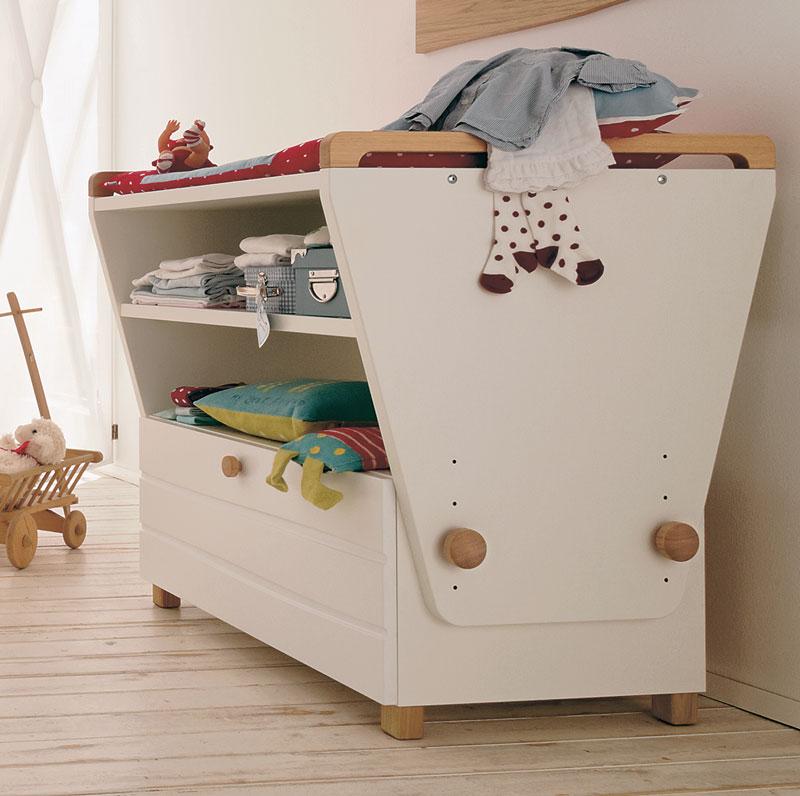 Modern Baby Room Furniture : Modern Kids Room Furniture Set with Convertible Baby Crib â ...