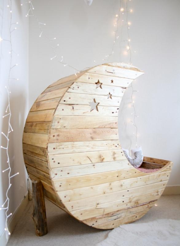 Original Crib Shaped Like A Moon By Jocelyn Costis