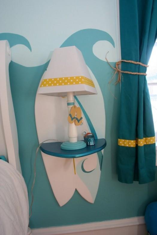 Cool Surfing Bedroom Design For A Little Girl Kidsomania