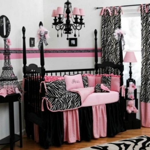 Animal print bathroom sets - How To Create A Charming Girl S Room In Paris Style Kidsomania