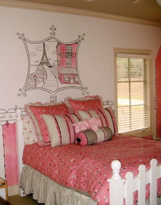 How to create a charming girl s room in paris style - Habitaciones juveniles con estilo ...