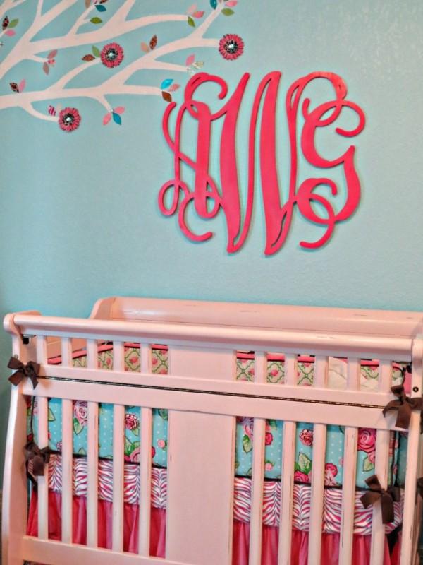 Maddie's Pink, Aqua, and Gray Chevron Nursery - Project ...  |Pink And Aqua Nursery