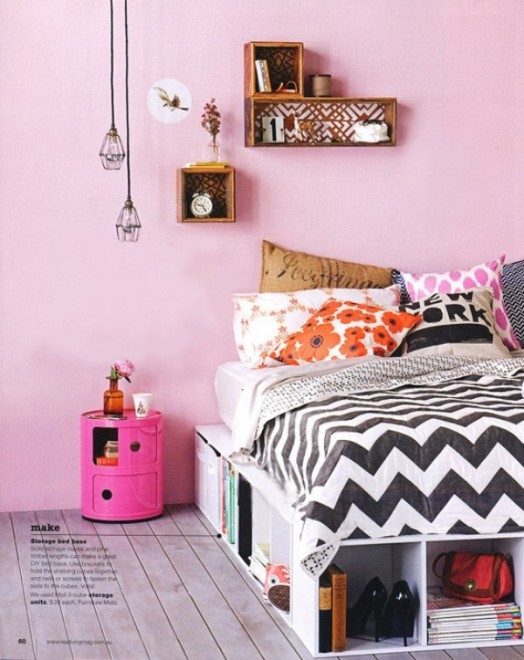 10 Simple And Fresh Design Ideas For Teen Girl's Bedroom ... on Bedroom Reference  id=74069