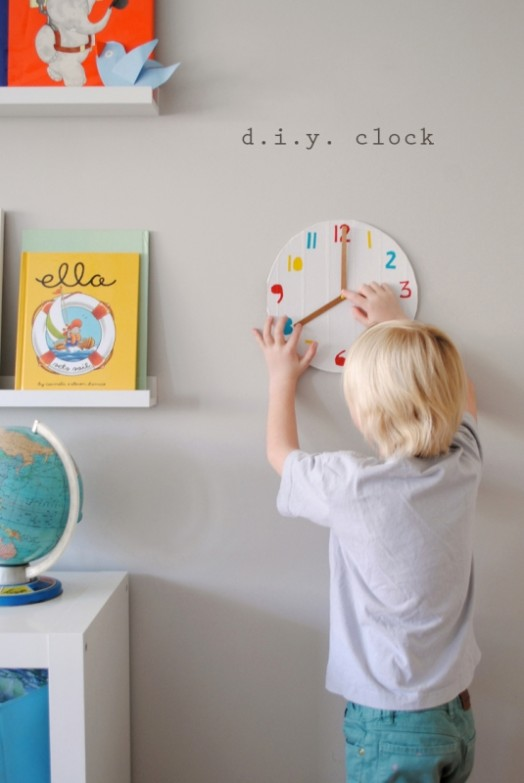 how to make a clock with cardboard