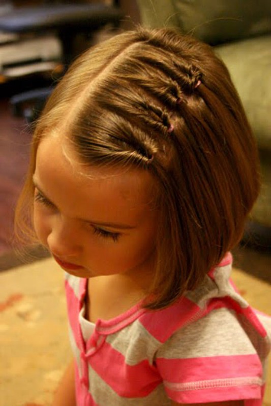 Outstanding 6 Simple Hairstyles For Girls With Short Hair Kidsomania Short Hairstyles Gunalazisus
