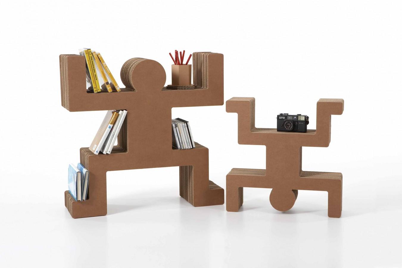 Spanky Cardboard Shelving For A Kids Room Kidsomania - Cardboard-bookshelves