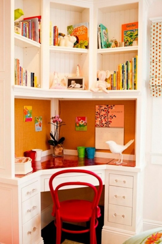 Storage Area And Study Room: 16 Cool Ideas To Organize A Work Area In The Kids Room
