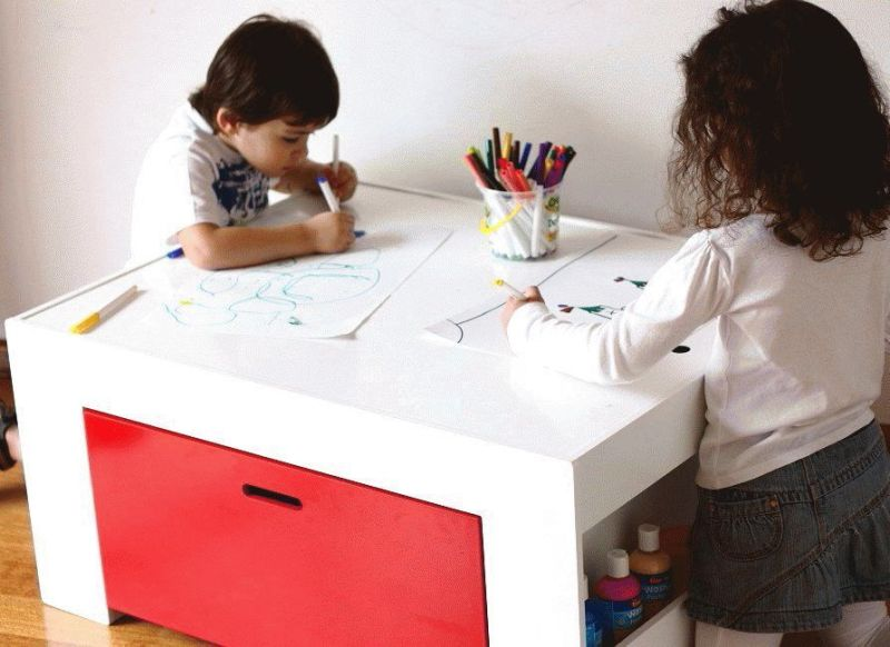 Super Practical Arts And Crafts Kids Activity Table By Hip Kids | Kidsomania