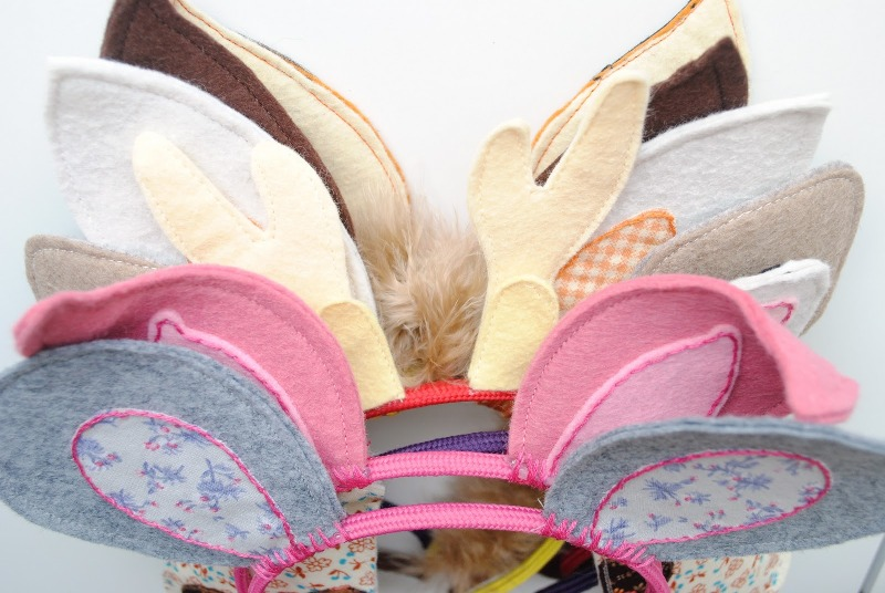 Как сделать кошачьи ушки на ободке из ткани