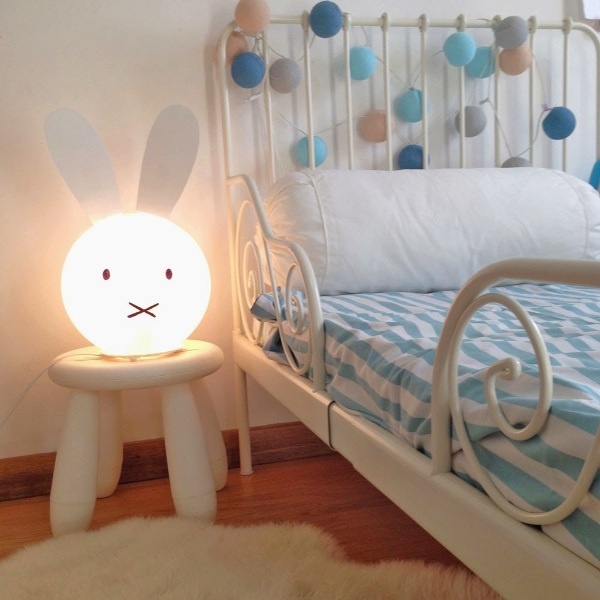 Adorable diy miffy lamp for a kid s room kidsomania for Lamp for kids room