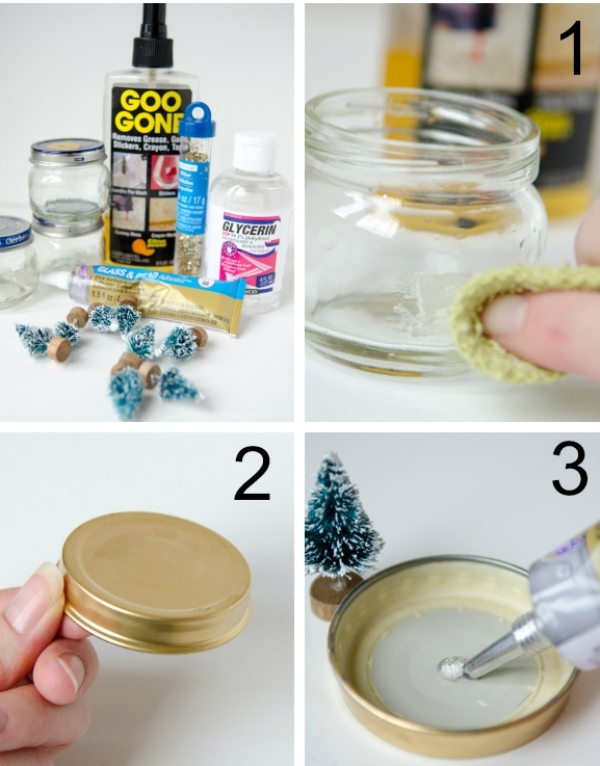 Baby Food Jar Snow Globes Amazing DIY Bab...