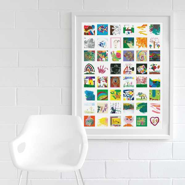 Elegant You simply send the artwork to ArtRooms then they ull scan each piece of art create a layout print out the image and frame it