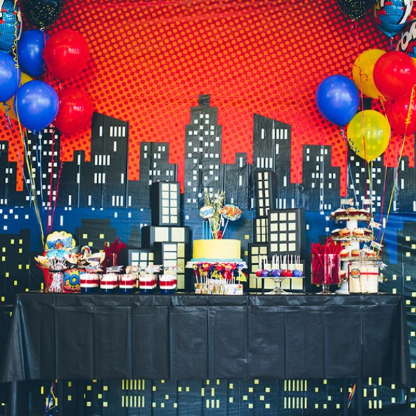 Awesome Superhero Themed Birthday Party For Kids Kidsomania