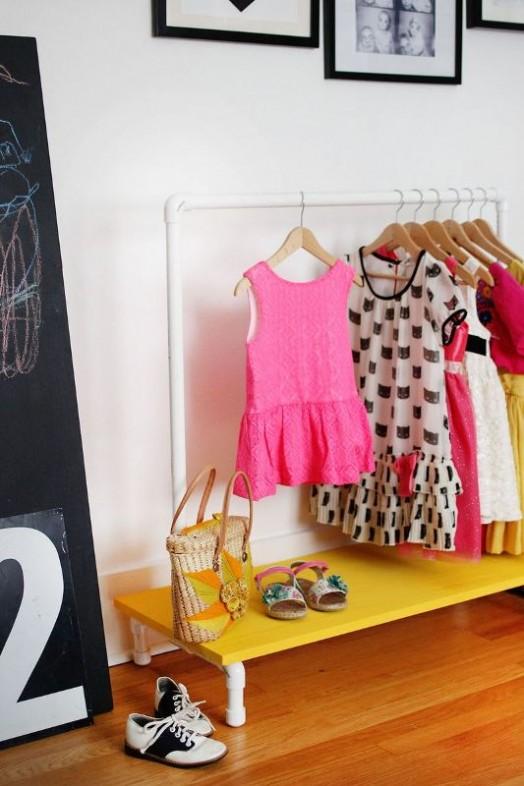Bright And Convenient Diy Kids Clothes Rack Kidsomania