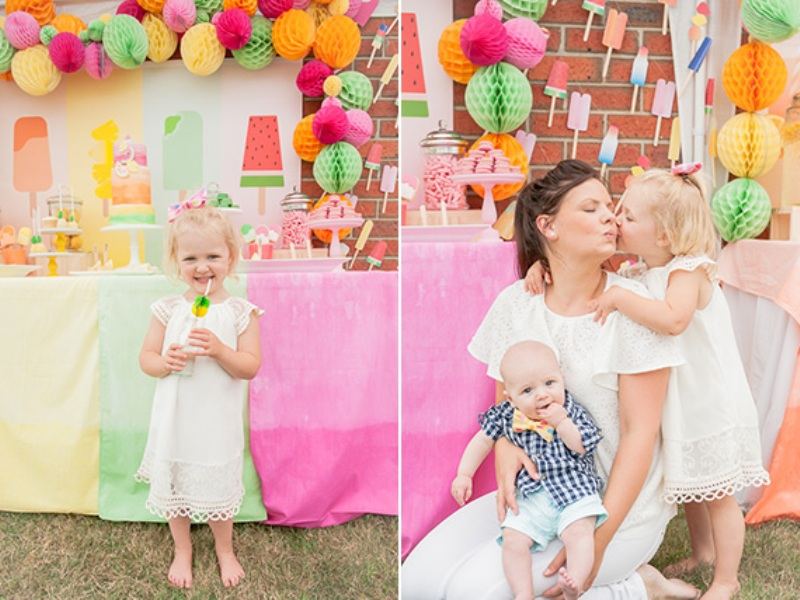 2558f5e427 Bright Popsicle-Themed Birthday Party For A Girl