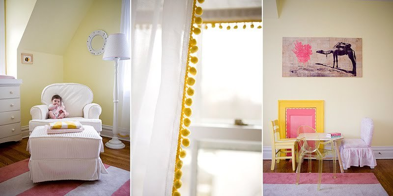 Buttery Yellow And Pink Nursery Design Inspiration
