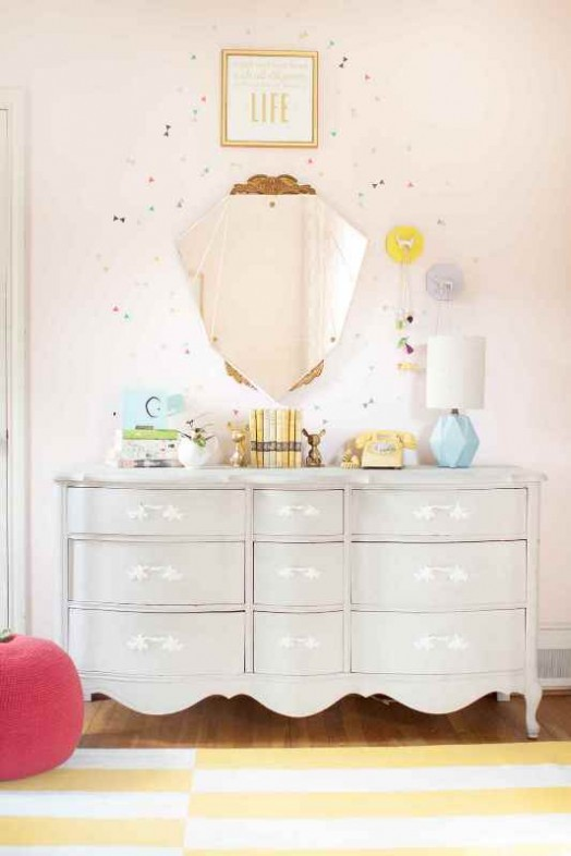 Cheerful And Cute Pink Shared Girls Room Design Kidsomania