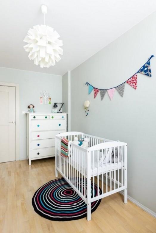 Cheerful And Modern Scandy Dutch Mashup Baby Girl Nursery