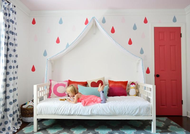 Colorful And Pretty Diy Raindrops Wall Decor Kidsomania