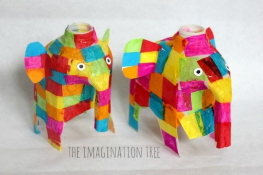 Colorful Diy Milk Jug Elmer Elephant Craft Kidsomania
