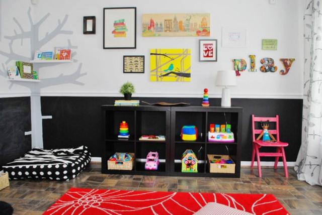 Colorful Playroom Design With Chalkboard Walls Kidsomania