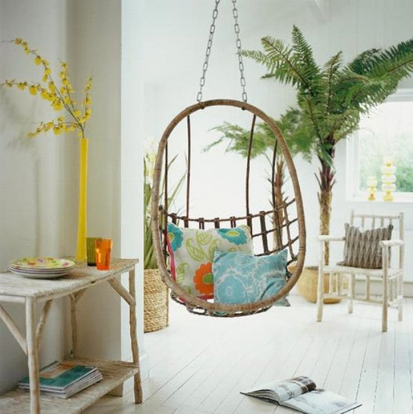 Comfy Hanging Rattan Chairs For You And Your Kids Kidsomania