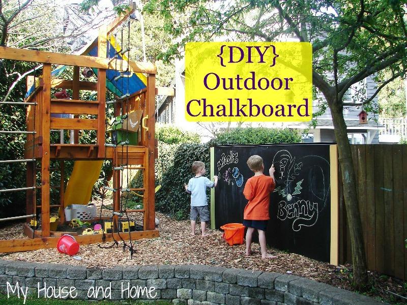 Cool Diy Outdoor Chalkboard For Kids Summer Fun Kidsomania