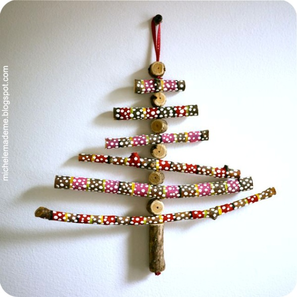 Cool Christmas Tree Decorations: Cool DIY Twiggy Christmas Trees To Make With Kids