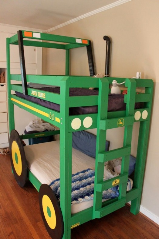 Cool DIY Tractor Bunk Beds For Your Boys Kidsomania